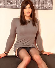 Sexy crossdresser Dannii loves to tease the camera with her natural good looks.